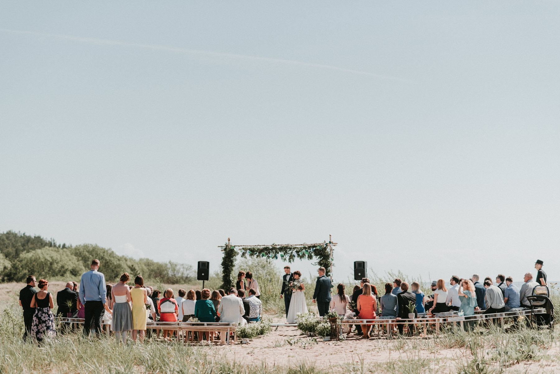 beach wedding baltic sea