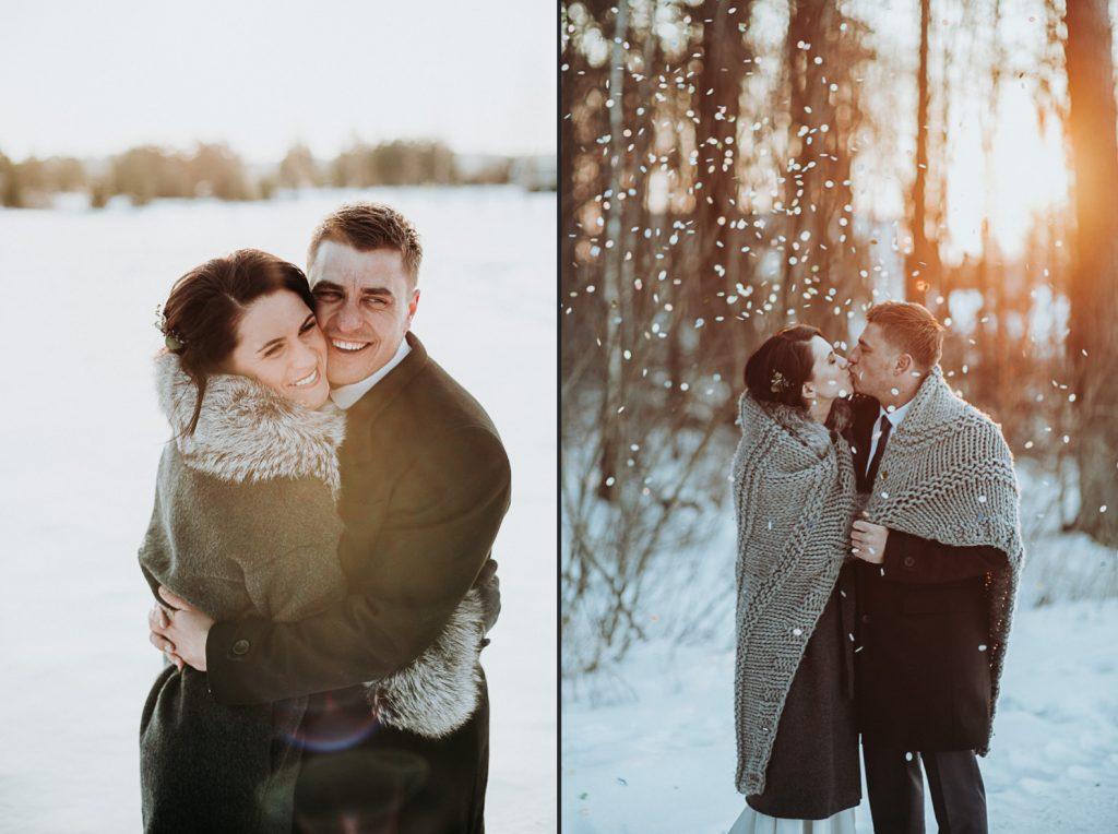 kāzas ziemā