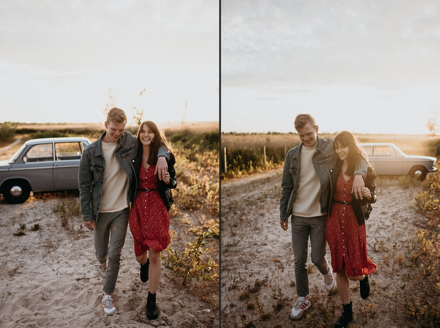 creative couple photoshoot